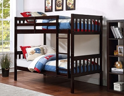 NOWY ESPRESSO TWIN TWIN CONVERTIBLE WOODEN BUNK BED