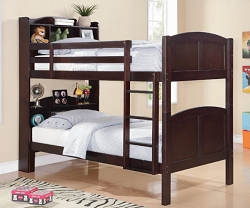 PARKER BOOKCASE TWIN TWIN BUNK BED