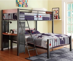 DIVISION TWIN FULL METAL LOFT BED