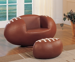 ALL STAR SWIVEL FOOTBALL PU CHAIR AND OTTOMAN SET